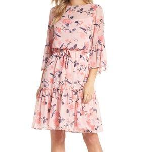 Eliza J Chiffon Floral Print Dress Sz 10